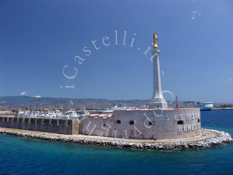 Castello Del San Salvatore A Messina, panoramica da nord-ovest
